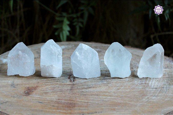 Ponta de Quartzo Bruta Pequena (de 70g a 90g a unidade) | Cristal de Limpeza, Purificação e Cura