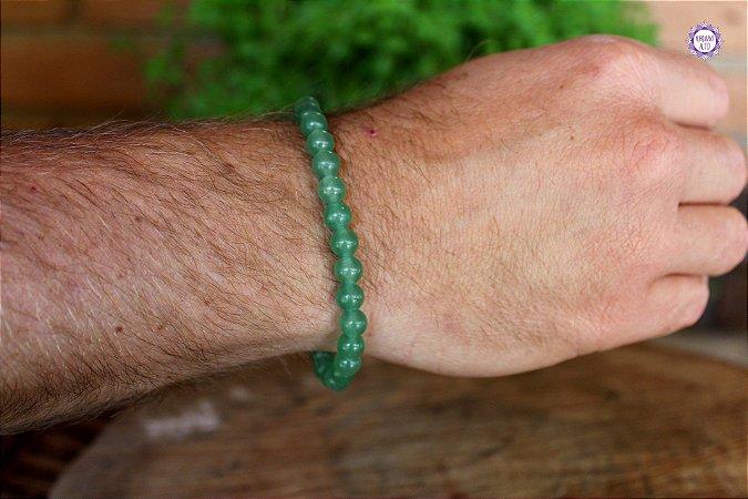 Pulseira de Quartzo Verde 19cm | Cristal de Cura e Manifestação
