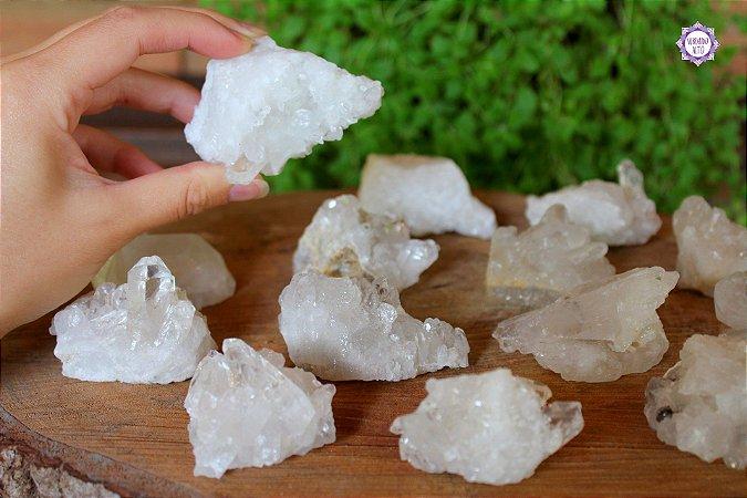 Drusa de Quartzo Pequena (de 50g a 100g a unidade) | Cristal de Limpeza, Purificação e Cura