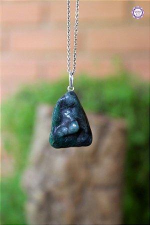 Pingente Esmeralda (Prata 950) | Pedra do Amor Divino, Cura e Prosperidade
