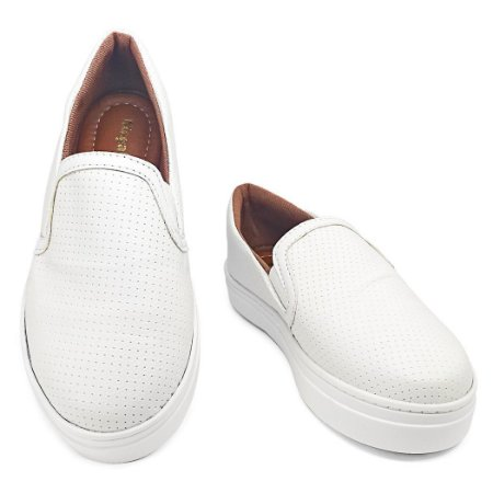 Slip On Branco Confort  MegaChic