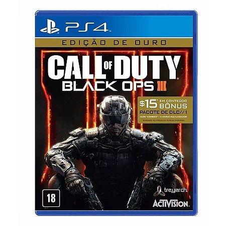 Jogo Call of Duty: Black Ops 3 - (Gold Edition - Edição Ouro) - PS4