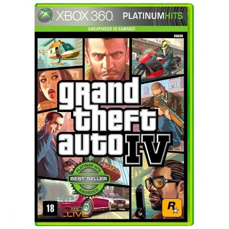 Jogo Grand Theft Auto IV Xbox 360 e Xbox One