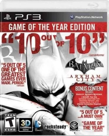 Jogo Batman Arkham City ( GOTY ) - PS3