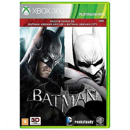Jogo Batman Arkham Asylum + Batman Arkham City Xbox 360