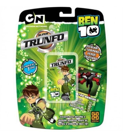 Super Trunfo Baralho Ben 10 Grow
