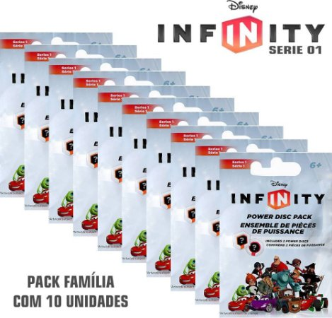 Kit 10 Packs Power Disc Disney Infinity ( Disco de Poder ) Series 1 - Multiplataforma