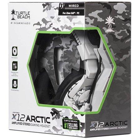 Fone Headset Turtle Beach X12 Arctic Estéreo Xbox 360 e Pc