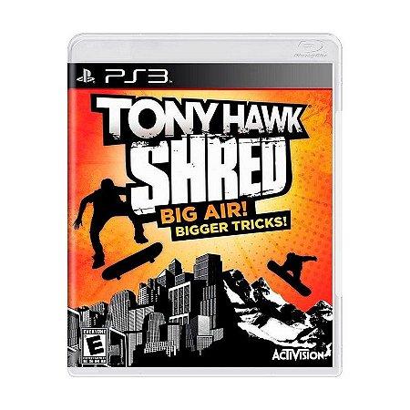 Jogo Tony Hawk Shred Big Air Bigger Tricks - PS3