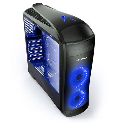 Gabinete Gamer Pegasus USB 3.0 2 Coolers LED Azul