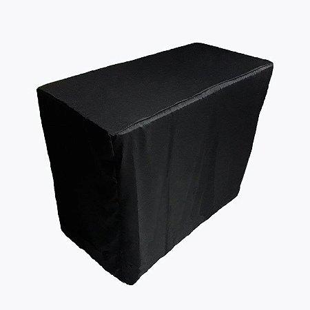 Capa Envelope Preta para mesa dobrável P - 122x61x90cm