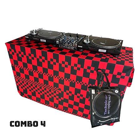 COMBO 4 - Capa Multiuso Xadrez Vermelho + Sacola Technic-se Black