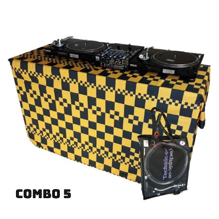 COMBO 5 - Capa Multiuso Xadrez Amarelo + Sacola Technic-se Black