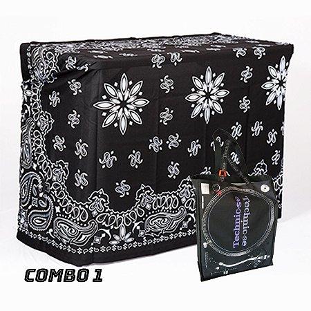 COMBO 1 - Capa Multiuso Bandana Preta + Sacola Technic-se Black