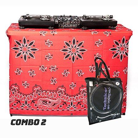 COMBO 2 - Capa Multiuso Bandana Vermelha + Sacola Technic-se Black