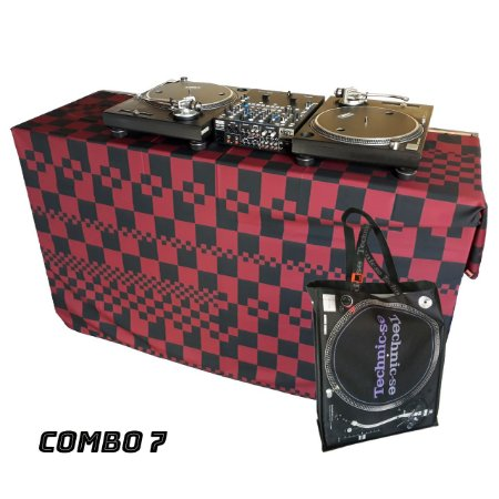 COMBO 7 - Capa Multiuso Xadrez Vinho + Sacola Technic-se Black