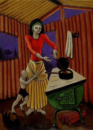 """Janta"", pintura acrílica"