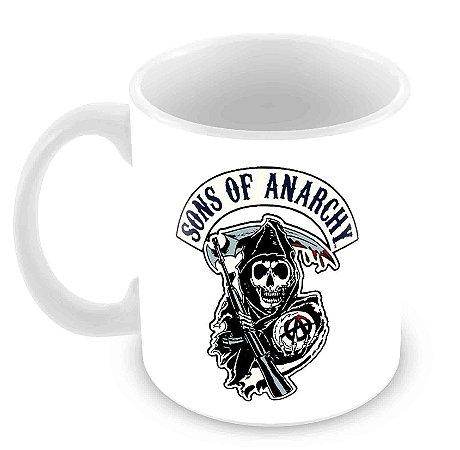 Caneca Branca - Sons of Anarchy - Logo