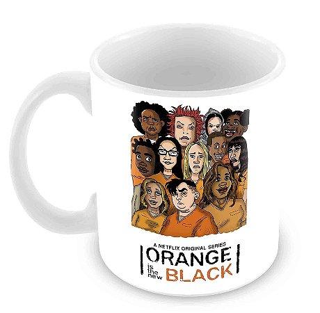 Caneca Branca - Orange is the New Black - Caricatura