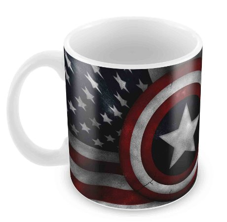 Caneca Branca - Capitão América