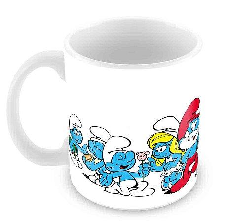 Caneca Branca - Smurfs