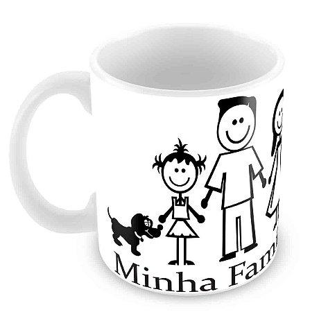 Caneca Branca - Família Feliz