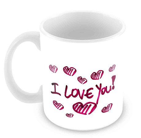 Caneca Branca -  Amor I Love You