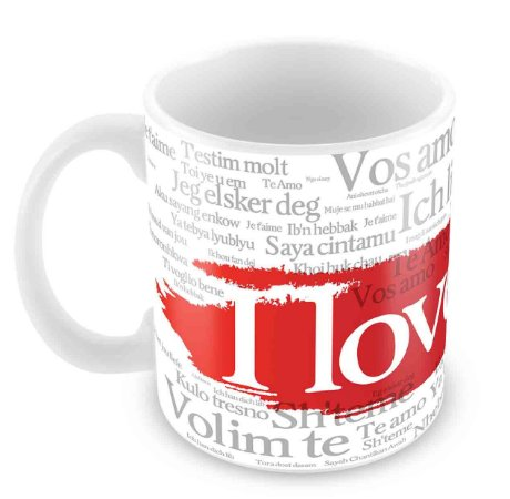 Caneca Branca - I Love You