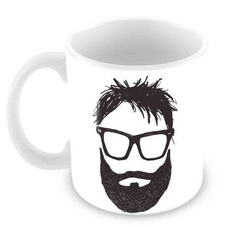 Caneca Branca - With Great Beard