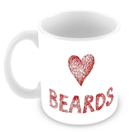 Caneca Branca - I Love Beards