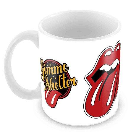 Caneca Branca - Rolling Stones