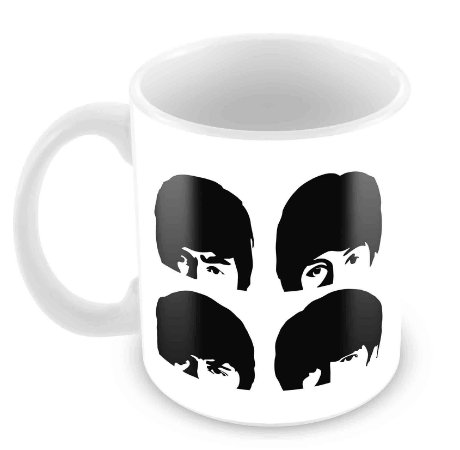 Caneca Branca - Beatles - 2