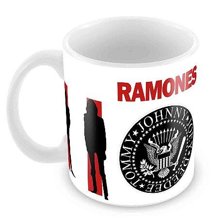 Caneca Branca - Ramones
