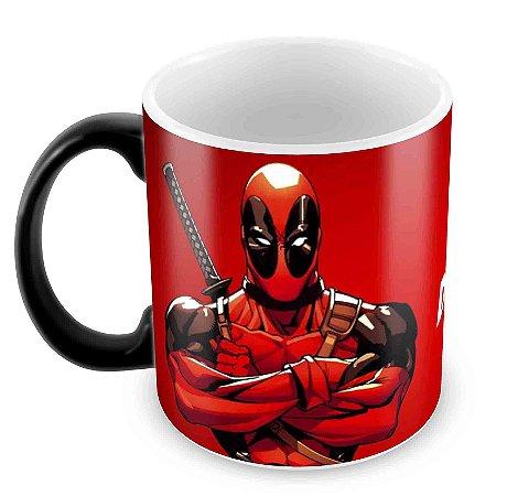 Caneca Mágica - Deadpool - Logo