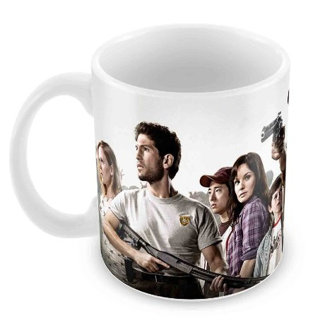 Caneca Branca - The Walking Dead - Elenco 3