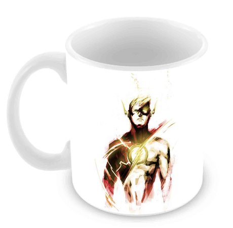 Caneca Branca - The Flash - Desenho