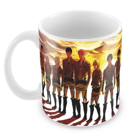 Caneca Branca - Attack on Titan