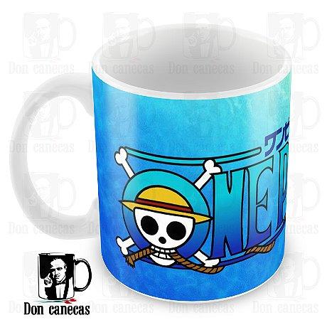 Caneca Branca - One Piece - Oferta Única