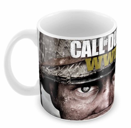 Caneca Branca - Call of Duty - WWII