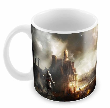 Caneca Branca - Assassins Creed