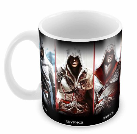 Caneca Branca - Assassins Creed - Power