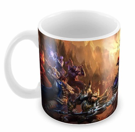Caneca Branca - League of Legends - Batalha