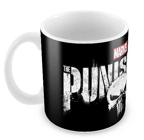 Caneca Branca - Justiceiro - The Punisher Logo
