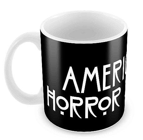 Caneca Branca - American Horror Story - Logo