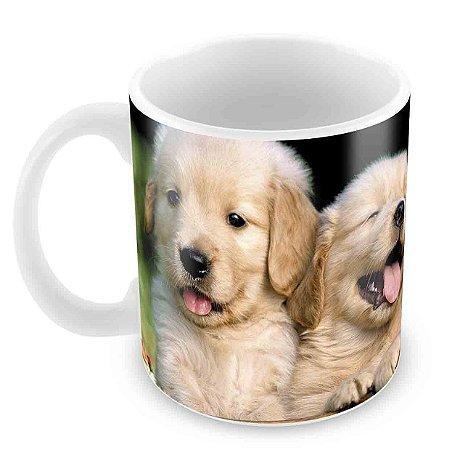 Caneca Branca - 3 cachorros