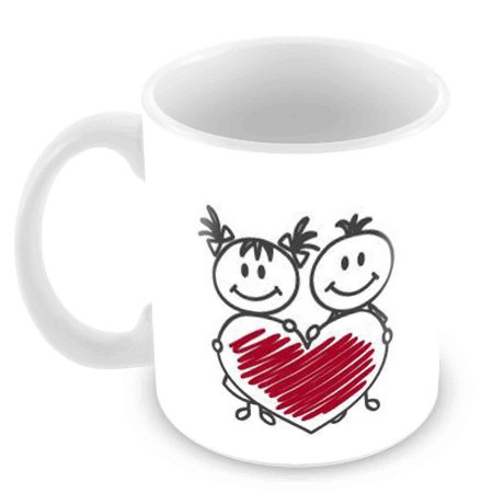 Caneca Branca Dia dos Namorados - Mod 17