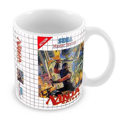 Caneca Branca - Master System - Ninja Gaiden