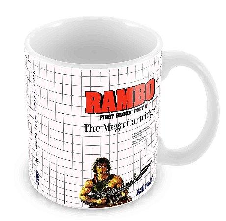 Caneca Branca - Master System - Rambo