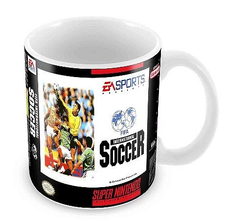 Caneca Branca - SNES - Fifa International Soccer