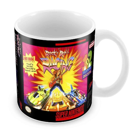Caneca Branca - SNES - Rock'n Roll Racing